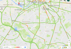 Google Maps cycle route road traffic